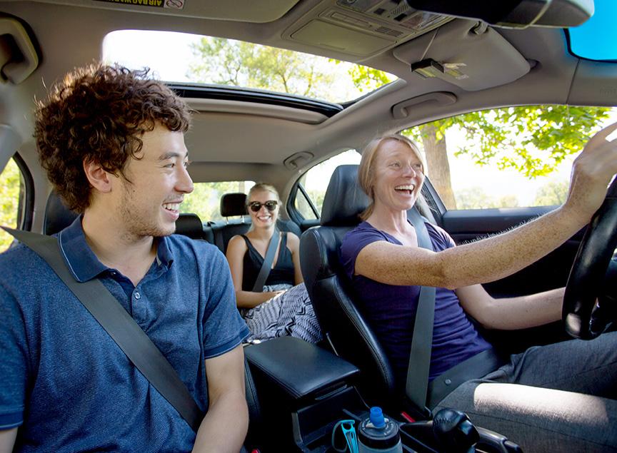 University of Utah students enjoying a carpool ride by using Zimride