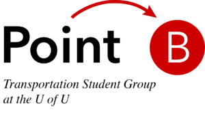 Point B Transportation Student Group of the University of Utah Logo